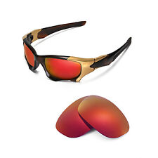 da8baf557 Walleva Polarized Fire Red Replacement Lenses for Oakley Pit Boss II