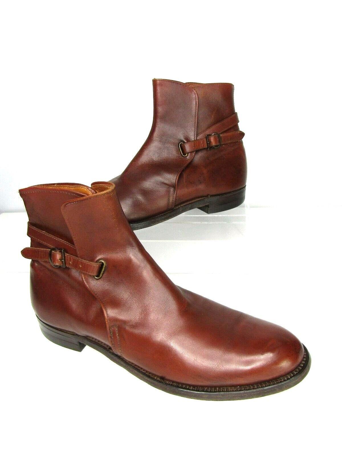 Frye Para Hombre Hebilla Correa en el tobillo botas Coñac Vintage