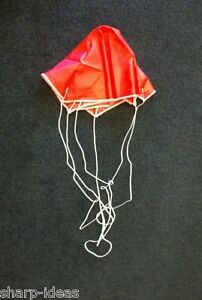 "12"" Red Model Rocket Parachute - Six Sided - Quality Rip-Stop Nylon"