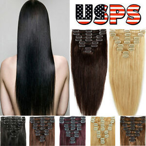 Grade 7a clip in remy human hair extensions black brown blonde ep image is loading grade 7a clip in remy human hair extensions pmusecretfo Image collections