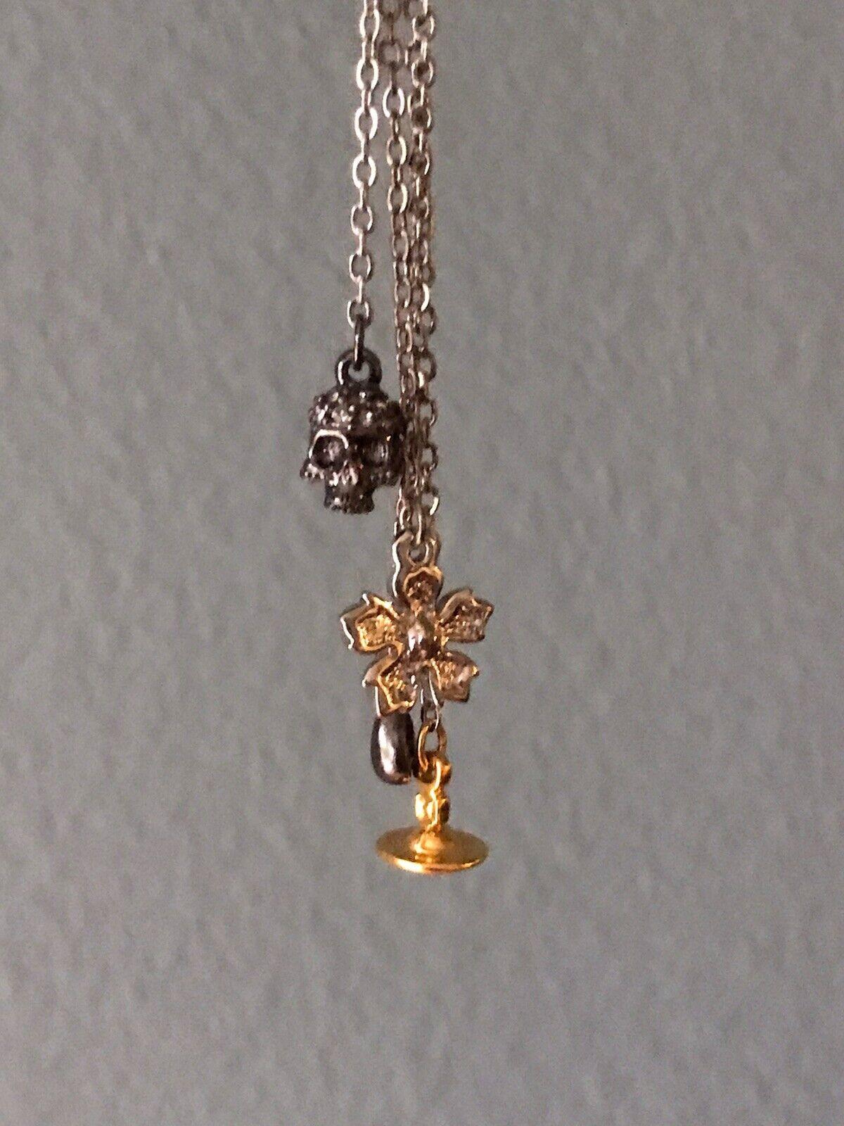 Vivienne Westwood Necklace Skull, Orb & More. Sil… - image 2