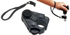 Adjustable easy fit walking stick wrist strap & cane crutch clip holder grip aid