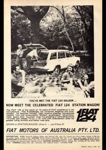 "1968 FIAT 124 STATION WAGON AD A3 CANVAS PRINT POSTER FRAMED 16.5""x11.7"""