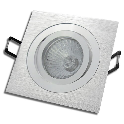 5er Set Halogen Deckenstrahler Mia 230Volt Hochvolt Leuchte Aluminium gebürstet