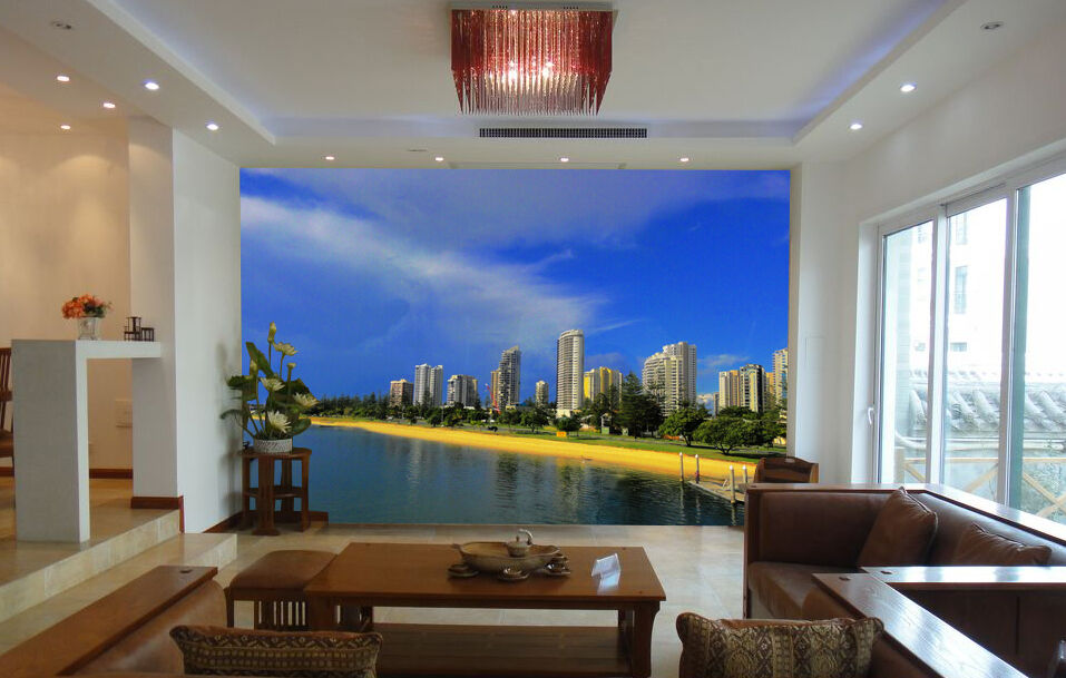 3D City reflection 452 WallPaper Murals Wall Print Decal Wall Deco AJ WALLPAPER