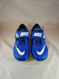 Nike Zoom High Jump Elite Spikes Shoes Men's Size 10 Blue/Black 806561-413 New