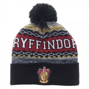 4c59fc787e2 Image is loading Harry-Potter-Beanie-Winter-Hat -Gryffindor-Slytherin-Ravenclaw-