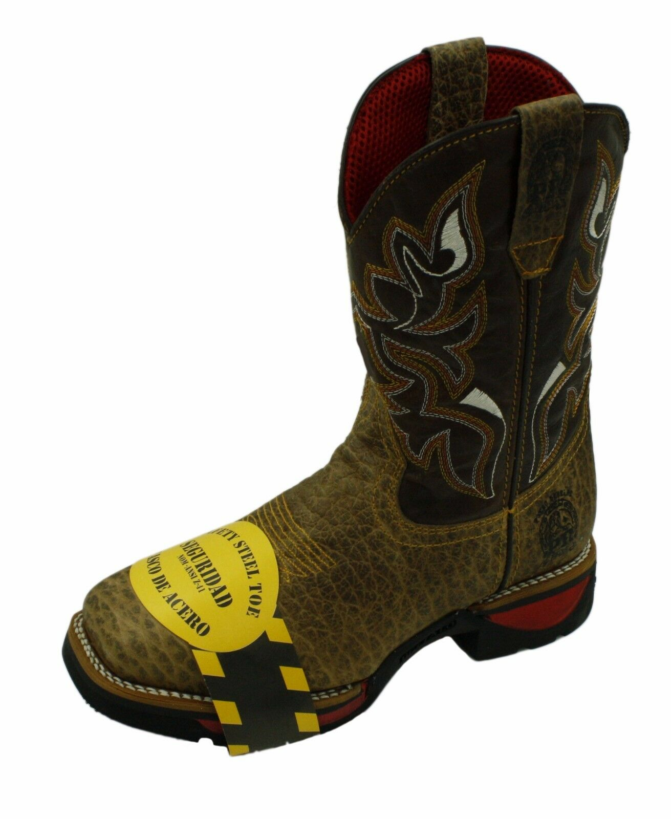 Men Genuine Cowboy Rodeo Western Leather Boots With Steel Toe # PR82W2795