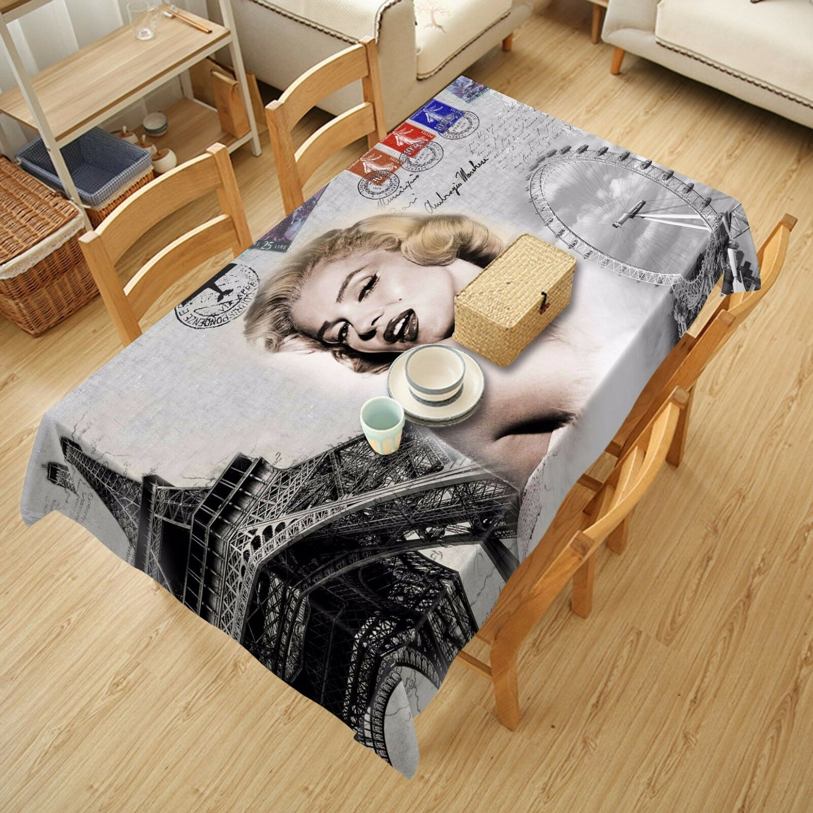 3D Monroe 89 Tablecloth Table Cover Cloth Birthday Party Event AJ WALLPAPER UK