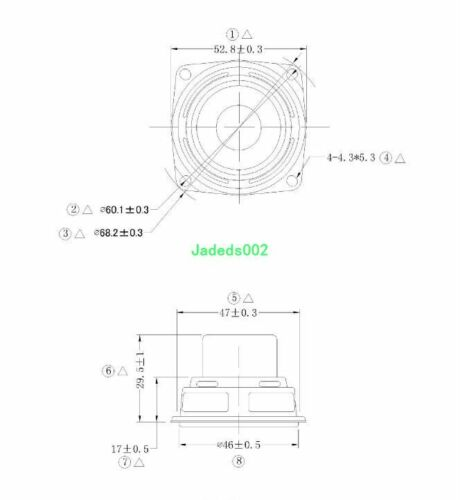 2pcs 52mm full-range speakers 4ohm 4Ω 10W Dual magnet Rubber edge loudspeaker