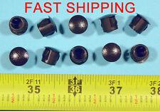 "10 Black Nylon HOLE PLUGS 3/8""  Locking Rigid Plug push-in round 10 pcs. flush"