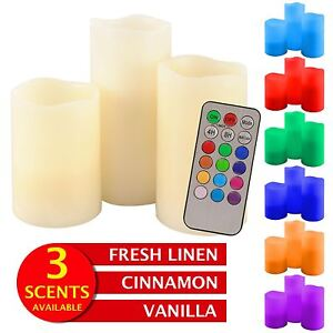 LED Candles Battery Scented Electric Flameless RGB Flickering Tea Lights Remote