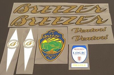 Breezer Venturi Bicycle Decal Set sku 11557
