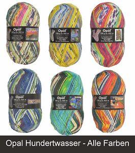 Opal-Hundertwasser-Wolle-4-Fach-Garn-100g-Stueck-Sockenwolle-Socken-stricken