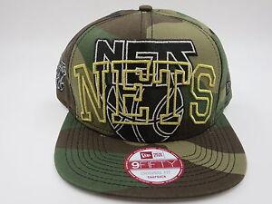6764d97c68b Brooklyn Nets Camo Green Retro Throwback 9FIFTY NBA New Era Snapback ...