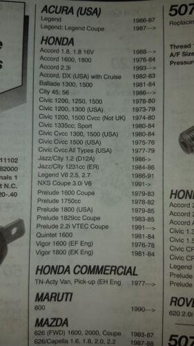 Suzuki 1970//1995 Honda. Rover. Interruptor de Presión de Aceite.