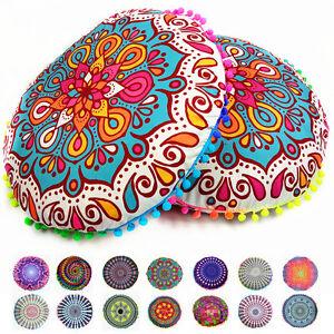 Mandala Bohemian Floor Pillows Round Cushion Pillows Cover Case ...