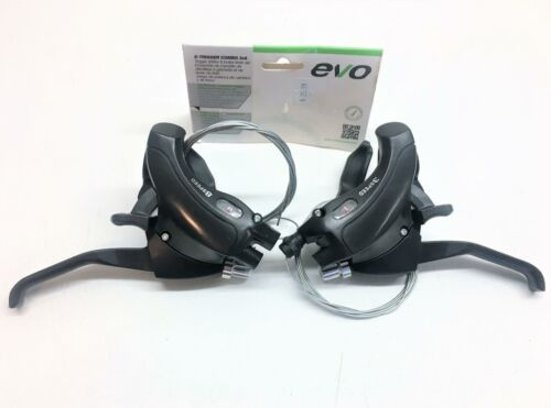 ~ New Shimano Compatible EVO 8 Speed 3x8 Trigger Shifter /& Brake Combo Set ~
