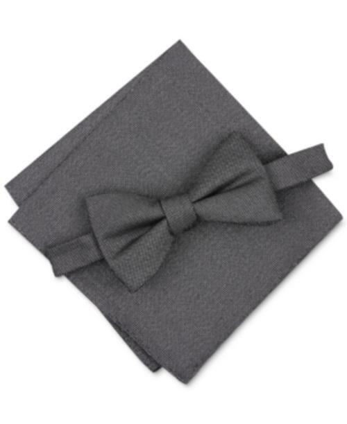 Alfani Men's Solid Textured Pocket Square (Black, One Size)