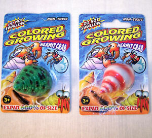 4 magic growing hermit crab seashell novelty toy trick shell pet