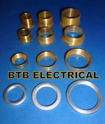Conduit Brass Bush Bushes Male, Female and Lock rings available 20mm 25mm 32mm