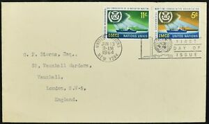 Uni United Nations 1964 Imco Fdc First Day Cover #c52334-afficher Le Titre D'origine