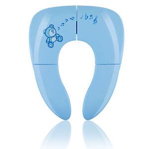 WC Sitz Faltbar Sitzverkleinerer Kinder Toilettensitz Baby Toilettentrainer Blau