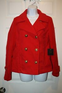 Jack-NWT-Women-s-Button-Up-Jacket-with-Pockets-Size-Small-Red