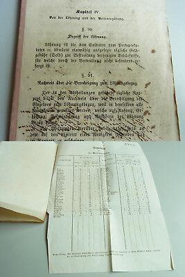 """Druck 1863 Armee Württemberg über """"löhnung Und Reisevergütung"""", Muster-formulare GroßEr Ausverkauf"""