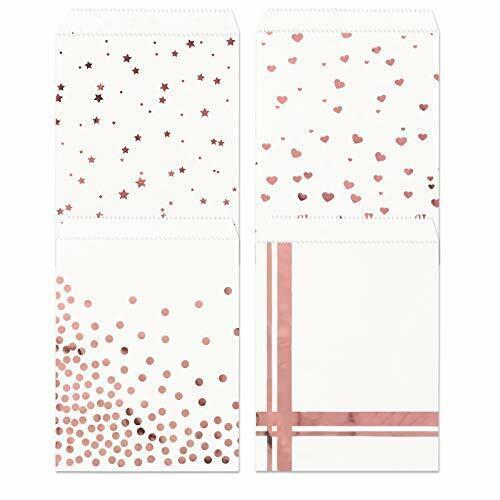 Kesote 100 Papiertüten Rosegold Geschenktüten Partytüten Papier Rosegold
