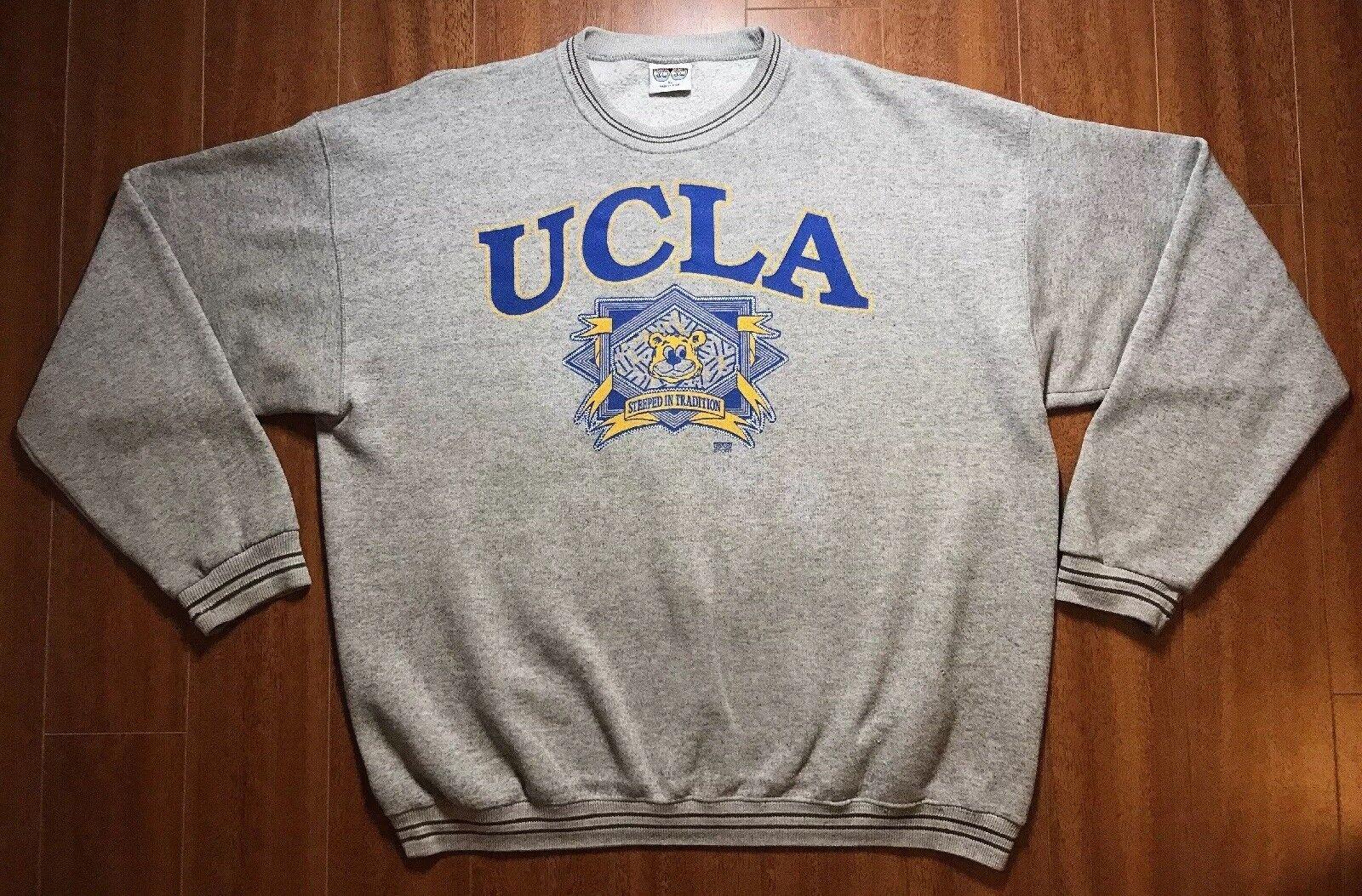 RARE Vtg UCLA Bruins 20 20 Sport schweißhemd XL Cartoon Bear grau Crewneck