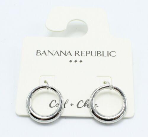 New Silver Circle Drop Earrings by Banana Republic NWT #BRE43