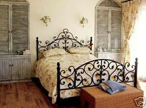 Image Is Loading Antique American Country Style Iron Bed Ends Frame