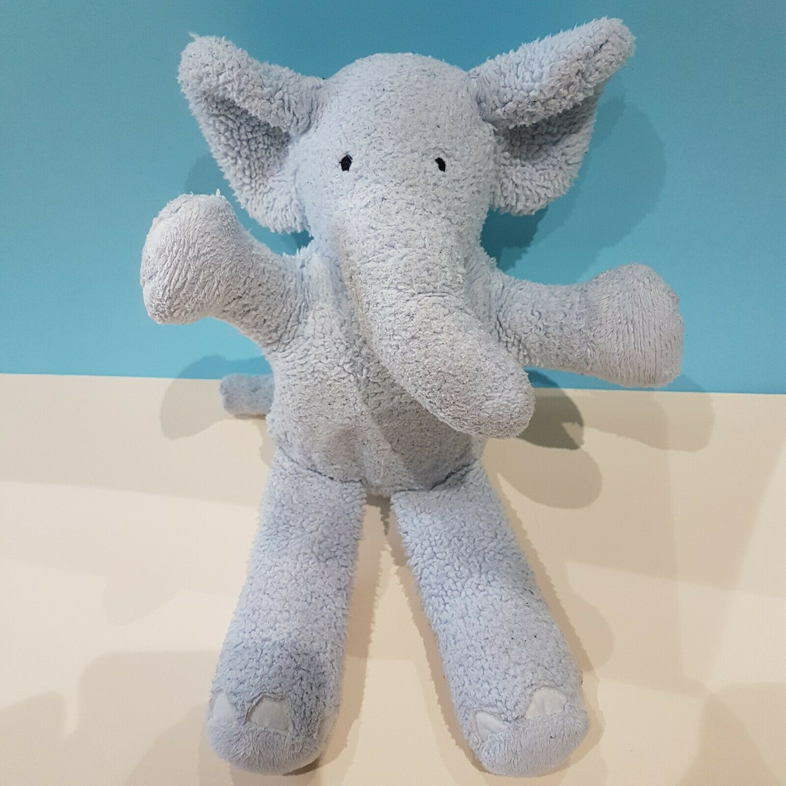 Jellycat Medium bluee Elephant Soft Toy Comforter Musical Pull