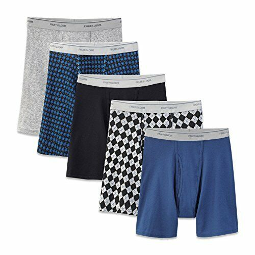 Pick SZ//Color. Fruit of the Loom Mens Underwear Assorted Boxer Brief