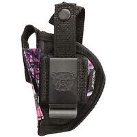 Raven Mp-25   Muddy Girl Nylon Belt & Clip Gun Holster