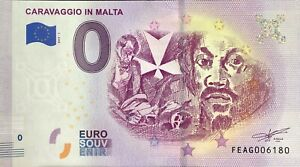 BILLET-0-ZERO-EURO-SOUVENIR-CARAVAGIO-IN-MALTA-2019-1