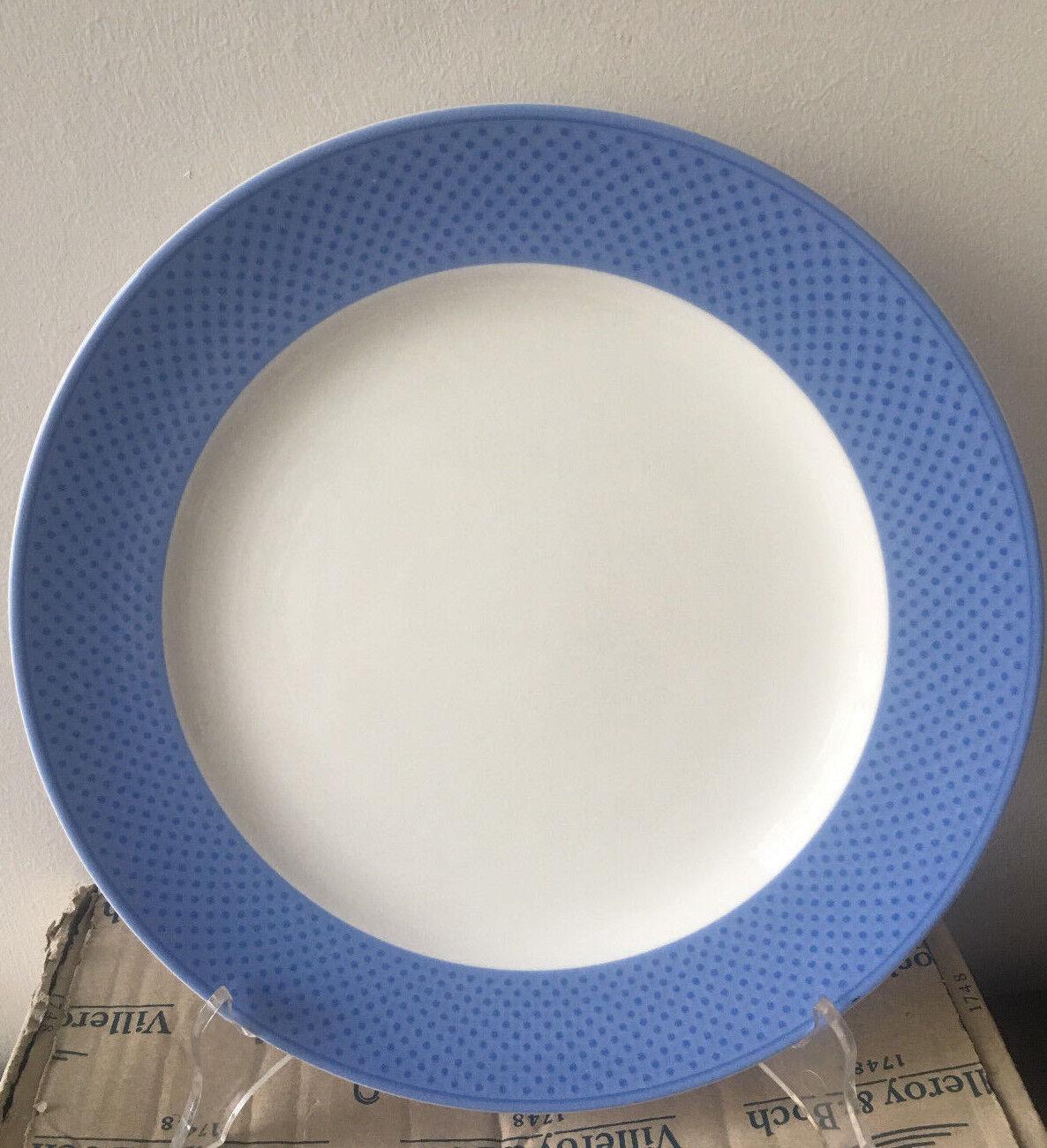 Villeroy & Boch tipo bleu. com set N. 6 piatti piani 27 cm. porcellana
