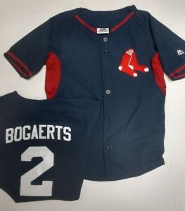 new style 590d8 36110 Details about BOGAERTS BOSTON RED SOX YOUTH SMALL THROWBACK JERSEY NEW  MAJESTIC