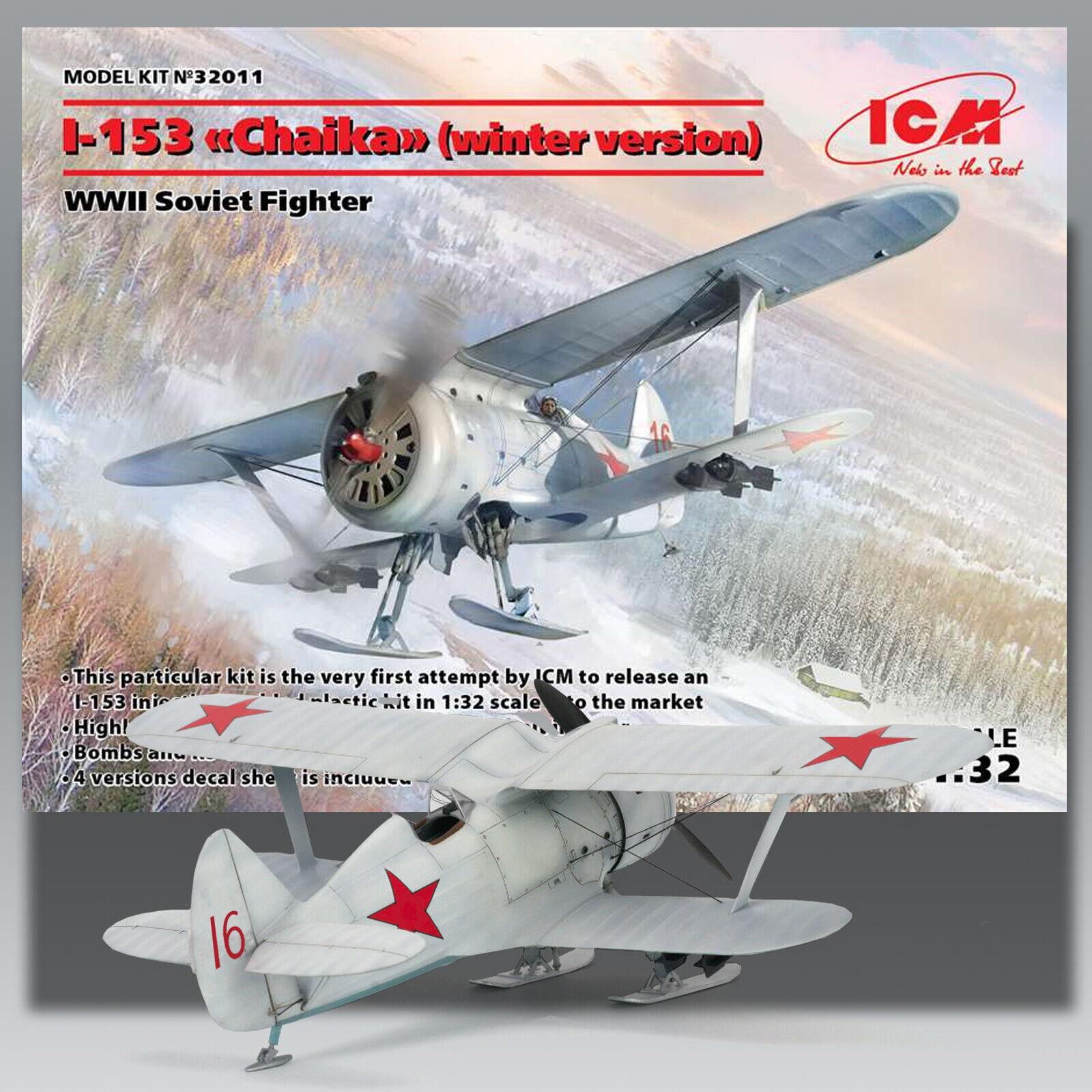 ICM 1 32 RUSSIAN I-153 (WINTER VERSION) KIT 32011