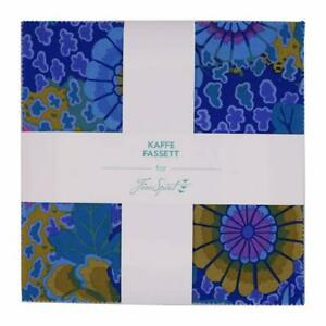 FreeSpirit-Kaffe-Fassett-Classics-Peacock-40-10-Cotton-Fabric-Quilting-Squares
