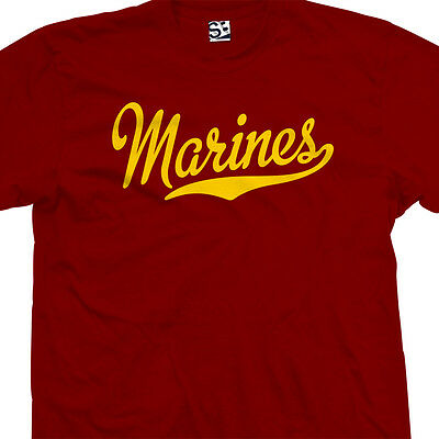Marines Script Tail Shirt - USA US Military Academy Semper Fi  All Size & Colors