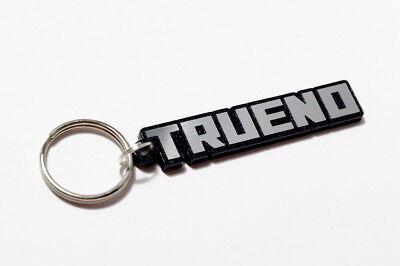 Brushed Chrome Effect Classic Car Keytag Keyfob Toyota AE86 Trueno Keyring