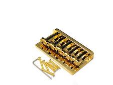 Bass Bridge Brücke Steg Fender Style 5string Messingsaitenreiter Brass Saddle Gd
