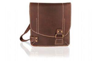 Braun Distressed Braun Messenger Leder Bag Distressed Leder Bag Messenger Leder TOqA6w