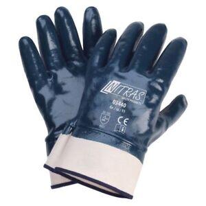 Blau Gr.:10 VerrüCkter Preis Schutzhandschuh Stulpe Cat Ii Nitras 3440 Nitril