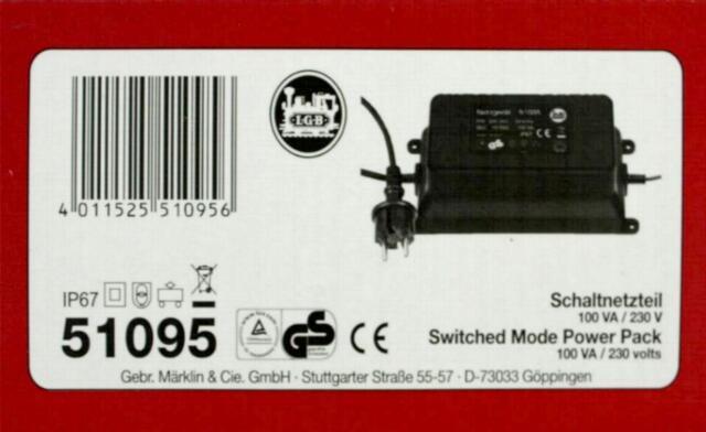 LGB 51095 G - Schaltnetzteil 100W/ 22V NEU & OvP