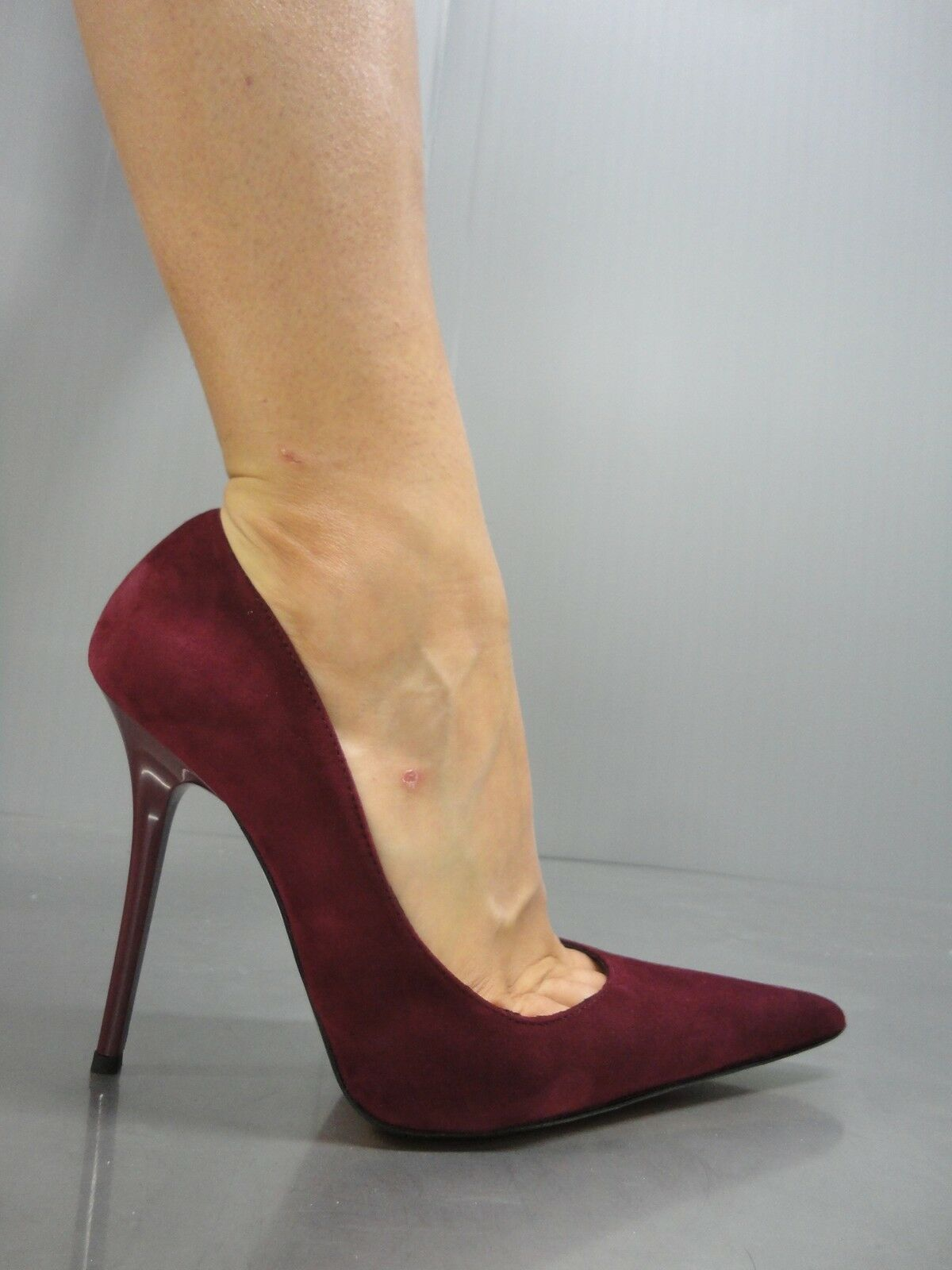 MORI MADE IN ITALY POINTY HIGH HEELS PUMPS SCHUHE SCHUHE SCHUHE LEATHER DECOLTE BORDEAUX 38 5c4fd0