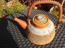 RARE Vintage 1960s Soholm Denmark Teapot with Raffia handle