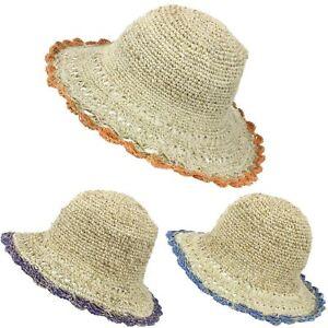 92102c9ccd6 Image is loading Sun-Hat-Hemp-Cotton-Summer-LoudElephant-Brim-Beach-